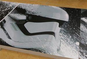 廣告牌由WER-G2513UV大幅面UV打印機打印