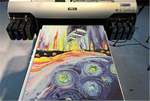 A2 UV打印機WER-EH4880UV的帆布樣品