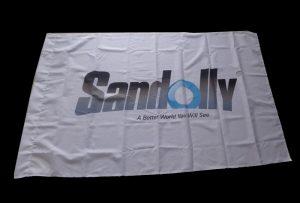 標誌布料橫幅由1.6米(5英尺)eco溶劑打印機WER-ES160打印