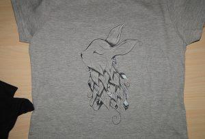 灰色T卹印花樣品由A2 T卹打印機WER-D4880T