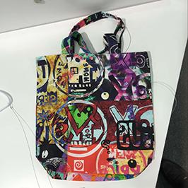 無紡布袋印刷樣品由A1數碼紡織印花機WER-EP6090T