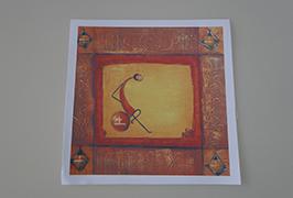 油畫布由2.5米(8英尺)eco溶劑打印機WER-ES2502打印