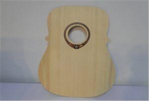 A2尺寸uv打印機WER-DD4290UV的木吉他樣品